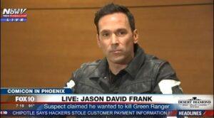 Phoenix Comicon, uomo vestito da The Punisher tenta di uccidere il Power Rangers Jason David Frank