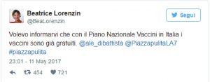 """Di Battista: """"Obbligatori? M5S vuole i vaccini gratuiti"""". La Lorenzin risponde"""