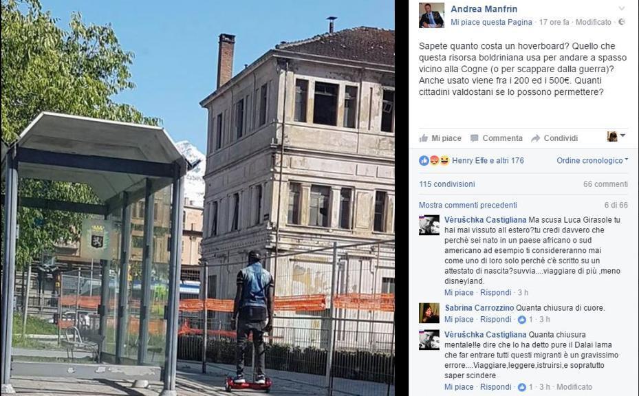 Post razzista, bufera su consigliere comunale Lega Nord