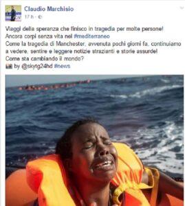 Claudio Marchisio su Facebook criticato per il post sui migranti, lui risponde così...