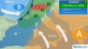 Previsioni meteo: venerdì temporali al Nord, ma nel week end migliora