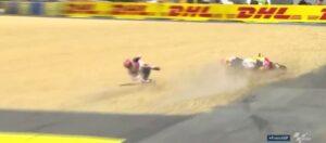 YOUTUBE Marc Marquez cade e si ritira dal MotoGp di Francia