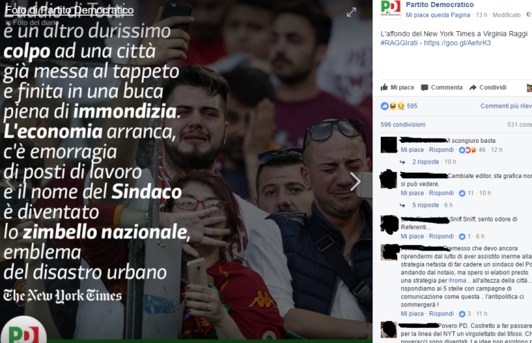 Francesco Totti e Roma, Pd traduce il New York Times ma...