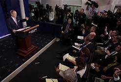 Un ''press briefing'' alla Casa Bianca