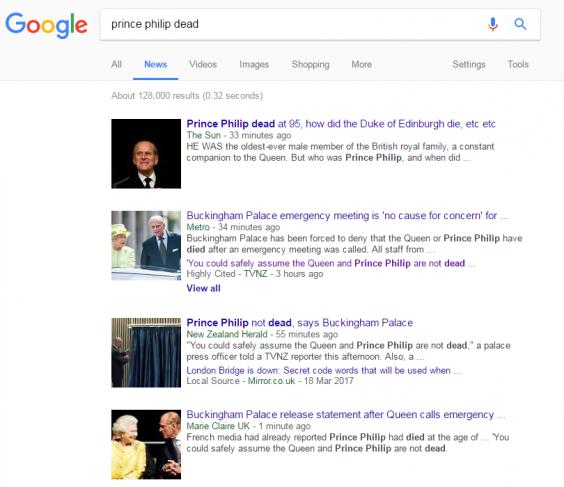 """""""Principe Filippo è morto"""", la clamorosa gaffe del Sun 01"""