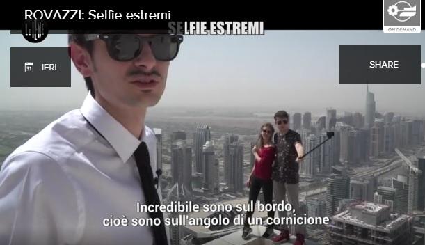 """Le Iene, Fabio Rovazzi e il servizio sui selfie estremi: """"Ecco come si su muore"""" VIDEO"""