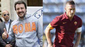 "Matteo Salvini: ""Vorrei Francesco Totti al Milan. E' un grande"""