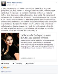 """Giro d'Italia, assessore Sardegna Paolo Maninchedda contro Tg1: """"Servizio rasenta il razzismo"""""""