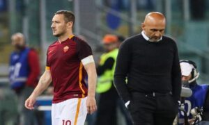 Luciano Spalletti e Francesco Totti (foto Ansa)