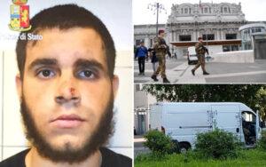 """Stazione Milano, interrogato Hosni: """"Non ricordo nulla, ho rubato i coltelli per difendermi"""""""