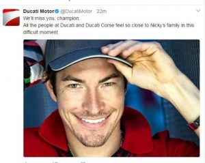 Nicky Hayden morto, il ricordo dei piloti della MotoGp