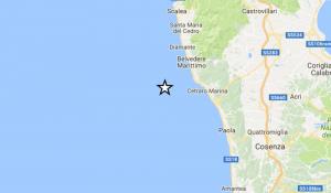 Terremoto Calabria, scossa del 3.1 al largo di Belvedere Marittimo e Cetraro