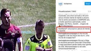 """Lazio, Tounkara su Instagram insulta Totti: """"Pezzo di m..."""" FOTO"""