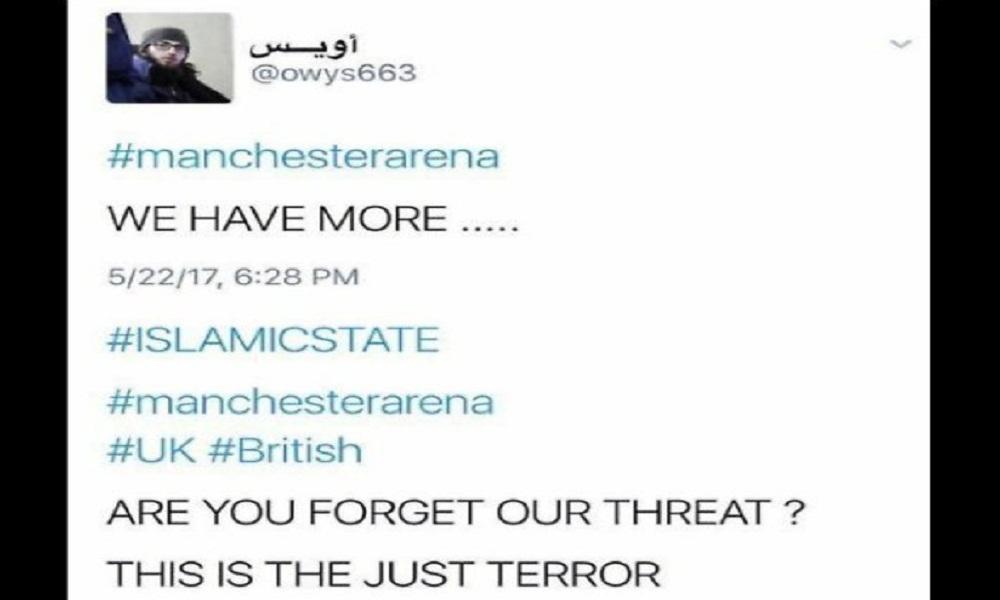 """Attentato Manchester, i due tweet che la avevano anticipata: """"Tra poco vi ammazziamo"""""""