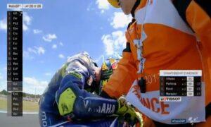Valentino Rossi: la caduta e le lacrime a Le Mans