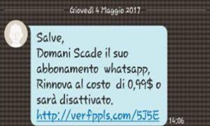 """WhatsApp, l'ultima truffa: """"Scade domani se non paghi"""""""