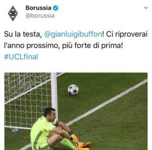 """Gianluigi Buffon, il tweet del Borussia: """"Ci riproverai l'anno prossimo"""""""