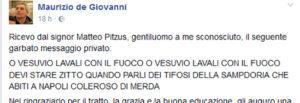 """Maurizio de Giovanni, insulti razzisti sulla chat di Facebook: """"Coleroso di m…."""""""