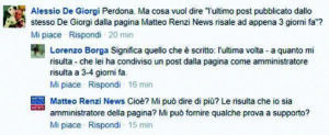 """Alessio De Giorgi, gaffe su Facebook: """"Non gestisco la pagina di Matteo Renzi"""". Poi..."""