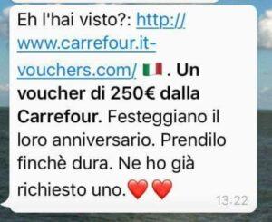 """WhatsApp, attenti al """"buono spesa"""" Carrefour: è una truffa"""
