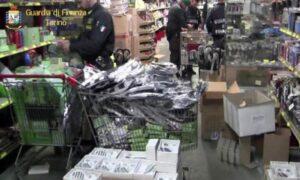 Juventus-Real Madrid, la finanza sequestra 250mila articoli contraffatti