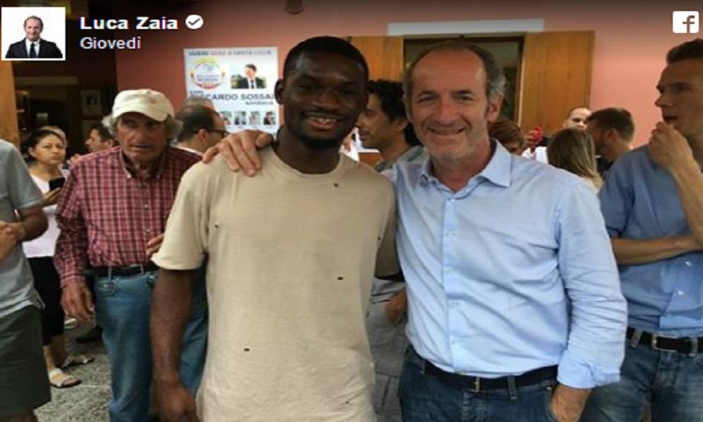 """Zaia insultato su Facebook per foto con calciatore di colore: """"Altro che Inter, sembra un profugo"""""""