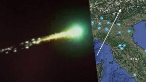 Meteora verde vista anche da Fedez il 30 maggio: puntava Venezia, si è disintegrata prima