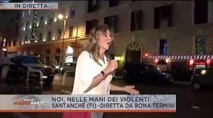 Daniela Santanchè aggredita, lancio di sassi alla stazione Termini di Roma in diretta tv VIDEO