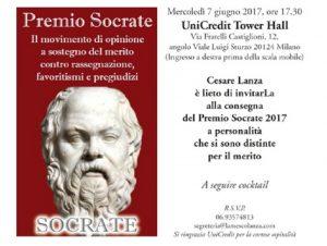Premio Socrate 2017: 8 italiani premiati il 7 giugno a Milano