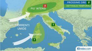 Previsioni meteo: fino a martedì temporali al Nord, da mercoledì caldo africano