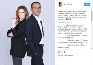 """Carlo Conti difende Vanessa Incontrada: """"Sei bellissima, non ti curar di loro..."""""""